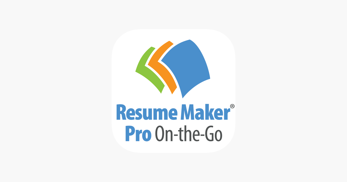 Resume Maker Pro On The Go On The App Store