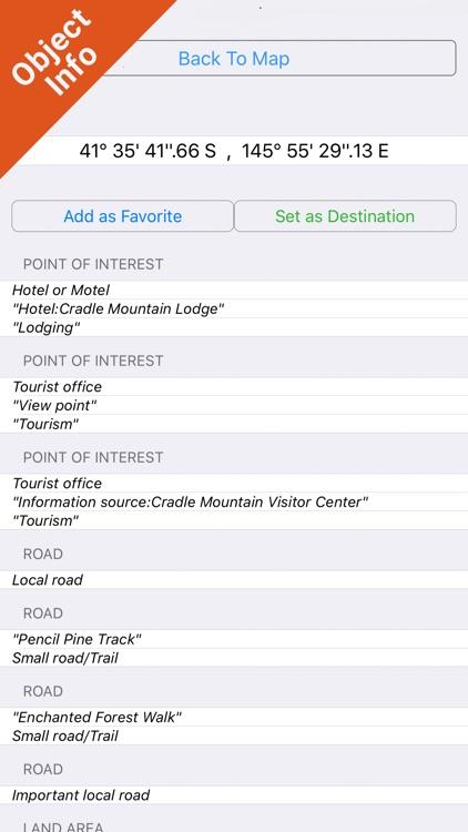 Cradle Mountain-Lake St Clair NP GPS outdoor map screenshot-3