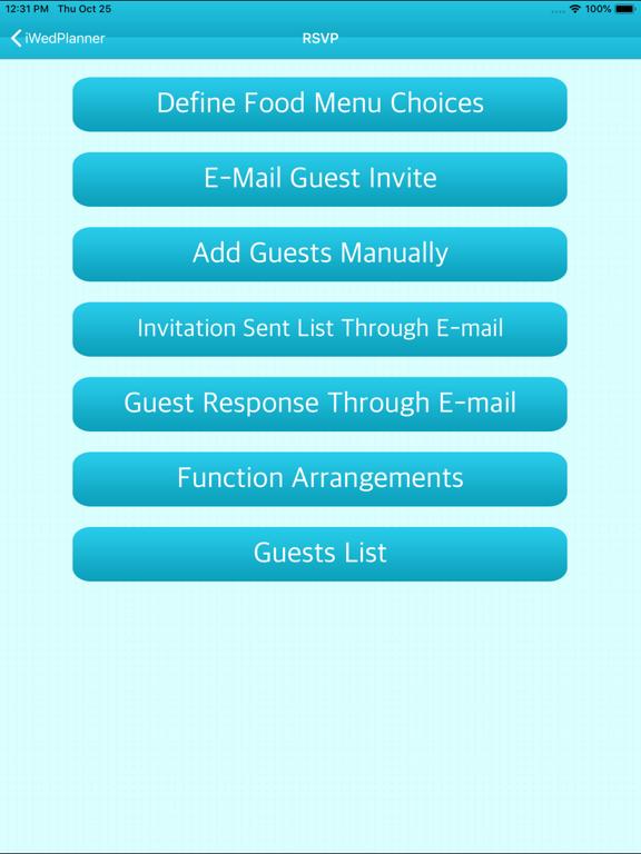 iWedPlanner - The Wedding Planner screenshot