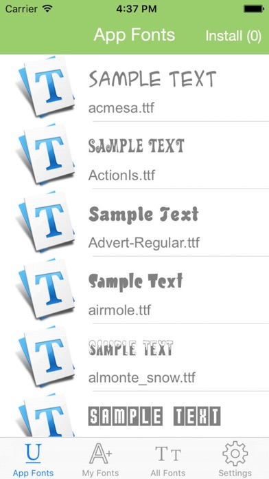ALLFONTS - Install Any & All New Custom Fonts screenshot three