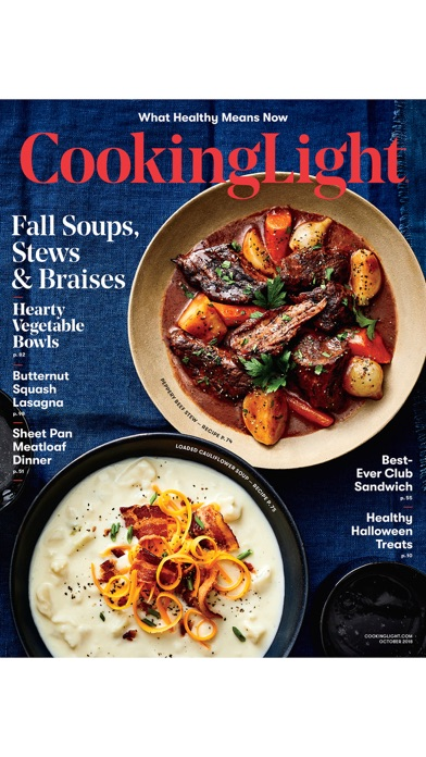 Cooking Light Magazine review screenshots