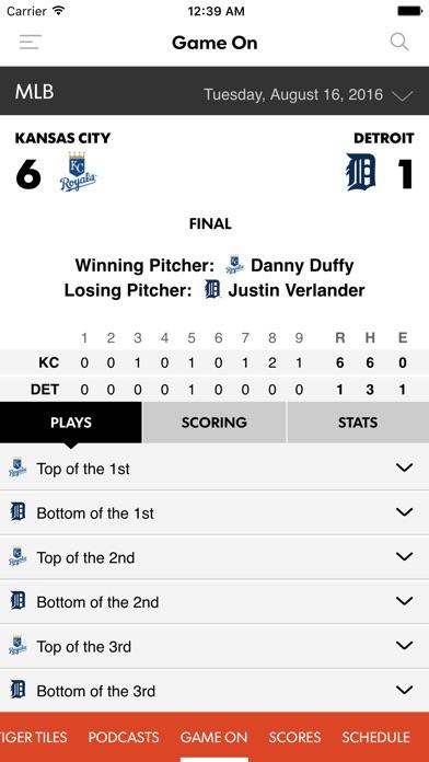 Tigers Xtra Screenshot on iOS