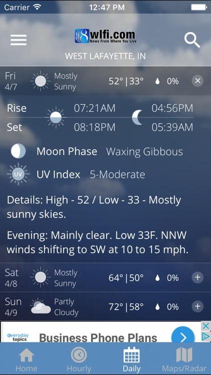 WLFI 18 Weather - Radar screenshot-3