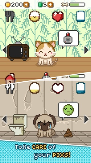 Image of: Talking Screenshots Ebay Pix Virtual Pet Widget Game On The App Store
