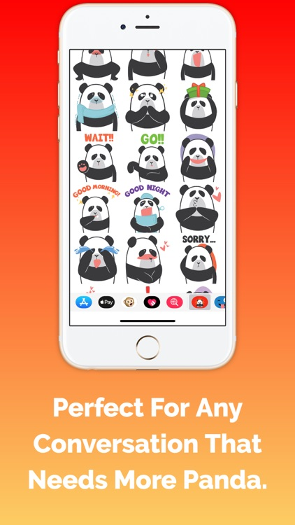 Panda Stickers and Emojis