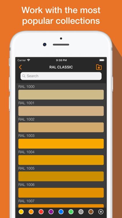 RAL color chart & Ncs palette