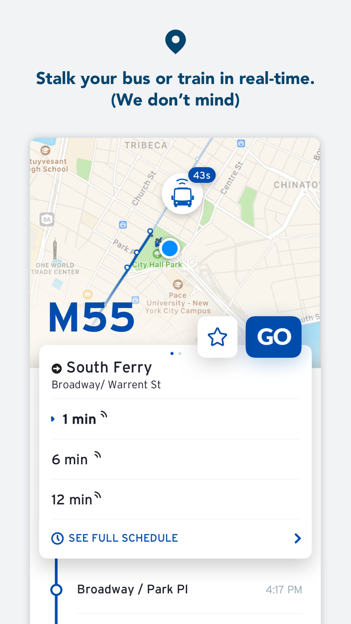 Transit • Bus & Subway Times Screenshot