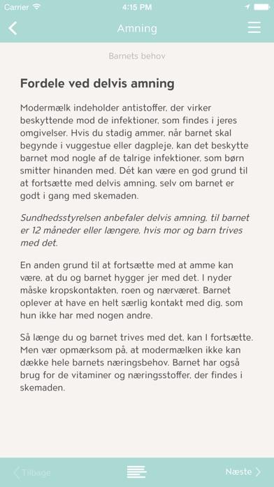 Screenshot for Min baby in Denmark App Store