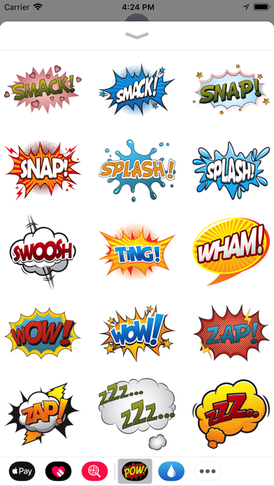 Comic Exclamation Sticker Pack Screenshot