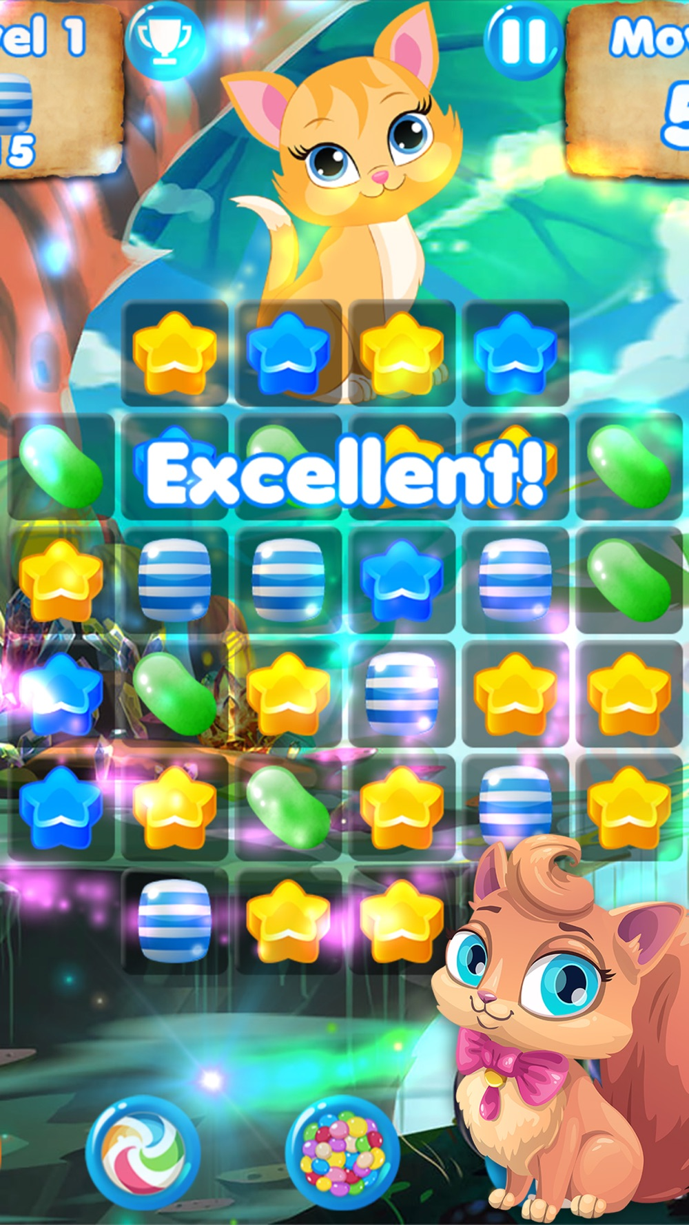Candy Cats – Cat games and puzzle Cheat Codes