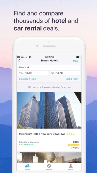 Skyscanner Flights Hotels Cars iPhone