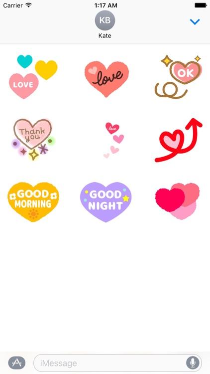 Animated Heart and Love Emoji