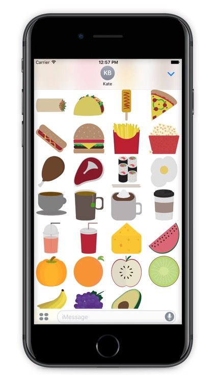 Foodly Stickers - Food Based Stickers for iMessage screenshot-3