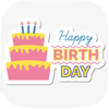 Birthday Stickers for Whatsapp - Shraddha Dungrani