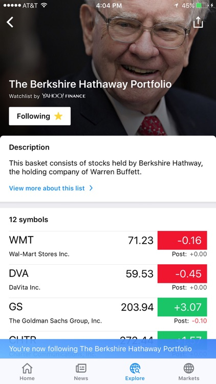 Yahoo Finance screenshot-3