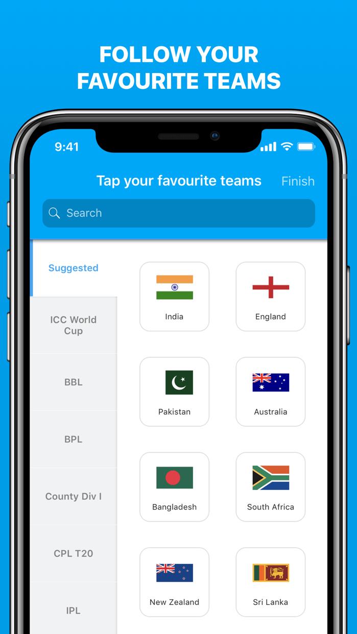 Cricinfo - Live Cricket Scores Screenshot