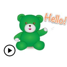 Animated Green Bear Sticker