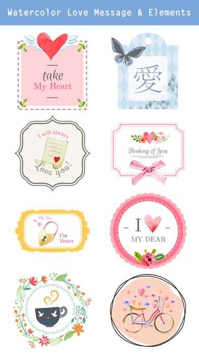 Lovely & Sweet Stickers Pack screenshot 3