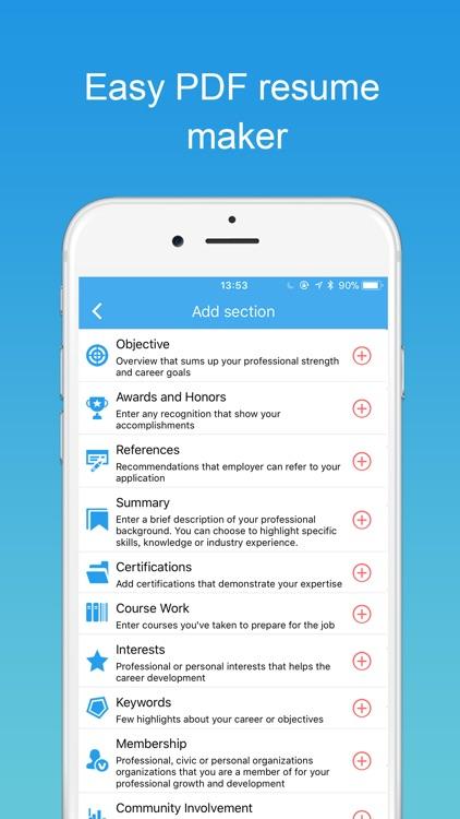 Resume Builder with PDF maker screenshot-3