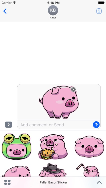 Fallen Bacon Stickers screenshot-1