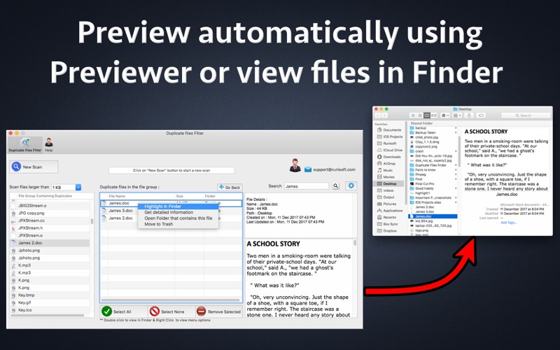 Duplicate files Filter for Mac