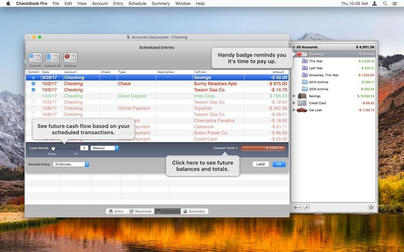 Screenshot #4 for CheckBook Pro
