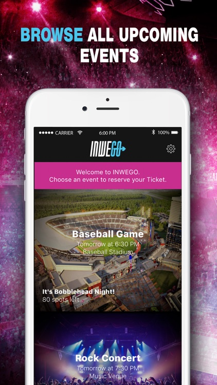 INWEGO - Your Ticket to Unlimited Live Events