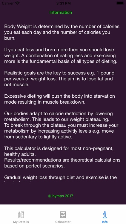 Weight Loss Calorie Calculator screenshot-4