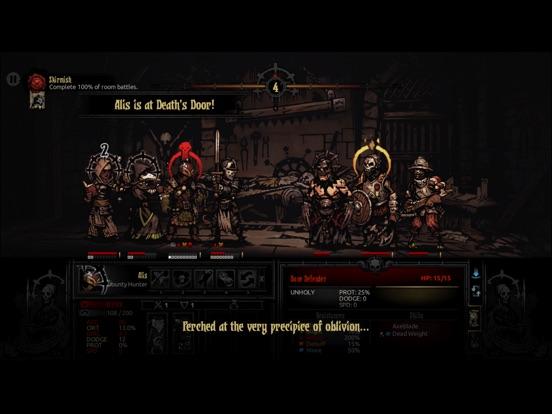 Screenshot #1 for Darkest Dungeon:Tablet Edition