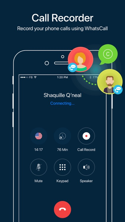 WhatsCall - Global Phone Call & Call Recorder screenshot-1