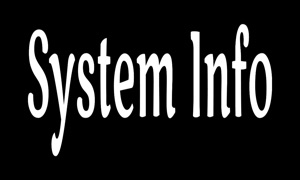 System Info - View Free Space