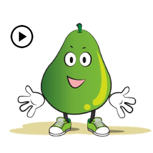 Animated Green Pear Stickers