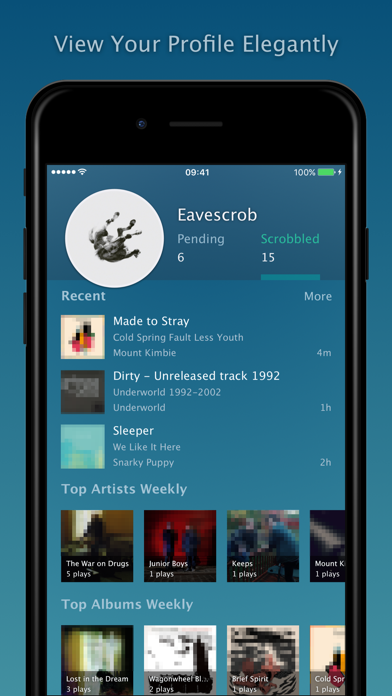 Screenshot for Eavescrob - for Last.fm in United Kingdom App Store