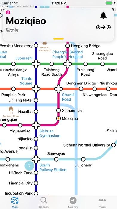 chengdu metro map