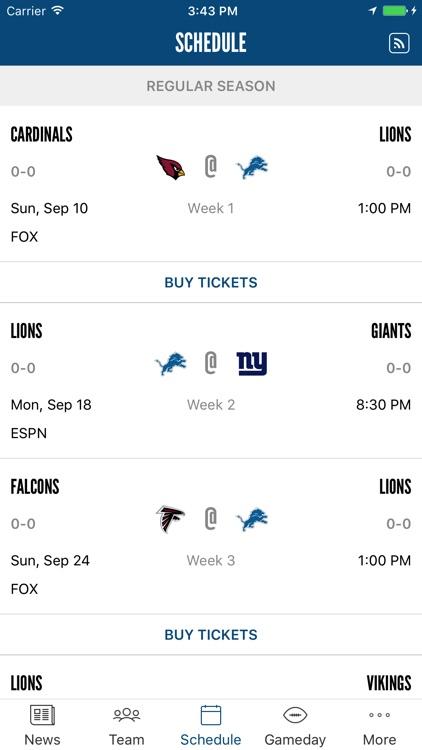 Detroit Lions Mobile screenshot-3