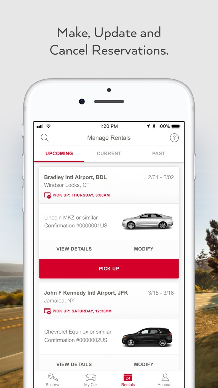 Avis - Car Rental Screenshot