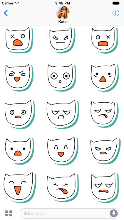 White Cats - funny stickers