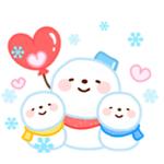 Cute Snowman Emoji Sticker