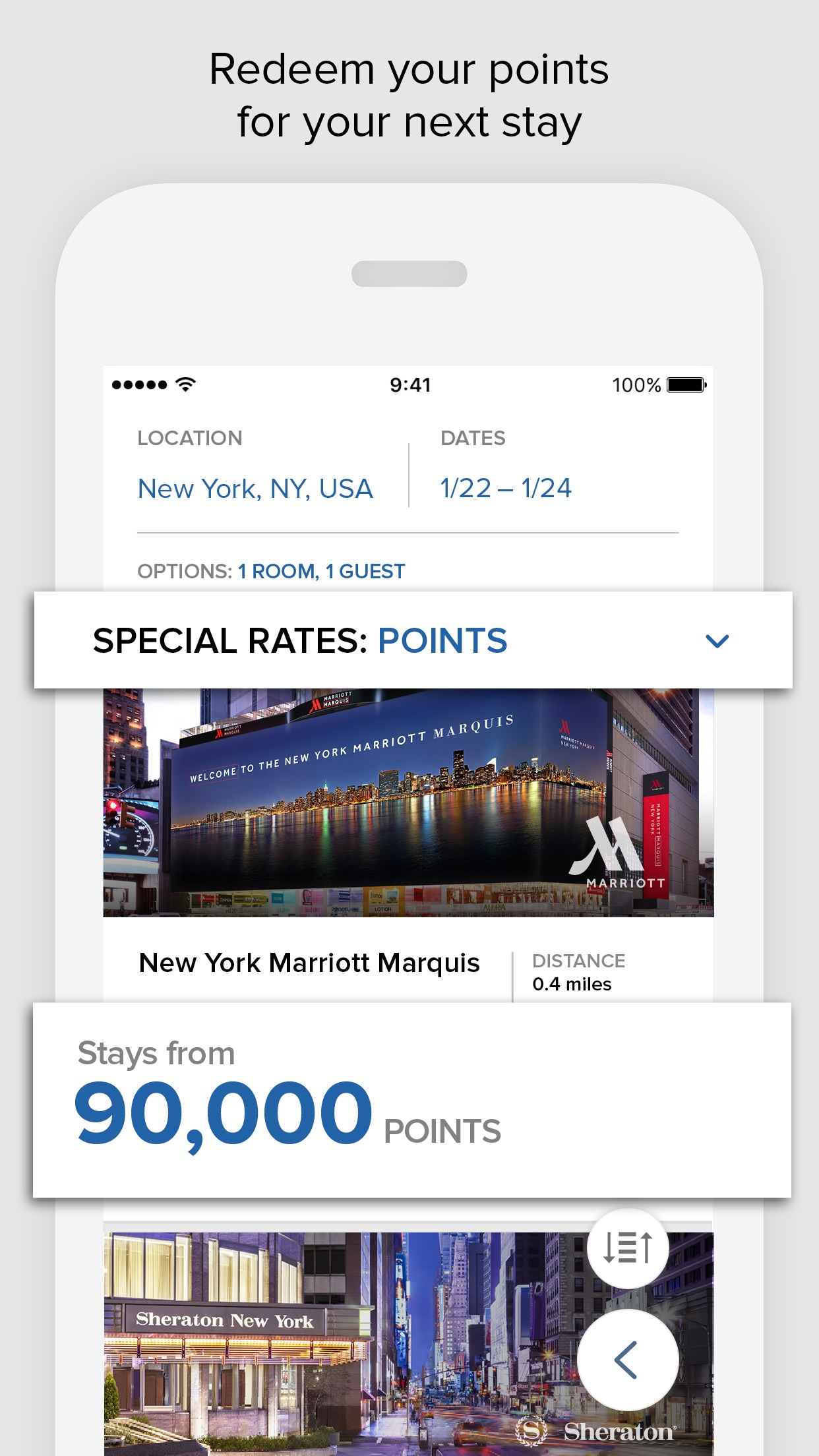 Marriott Rewards Screenshot