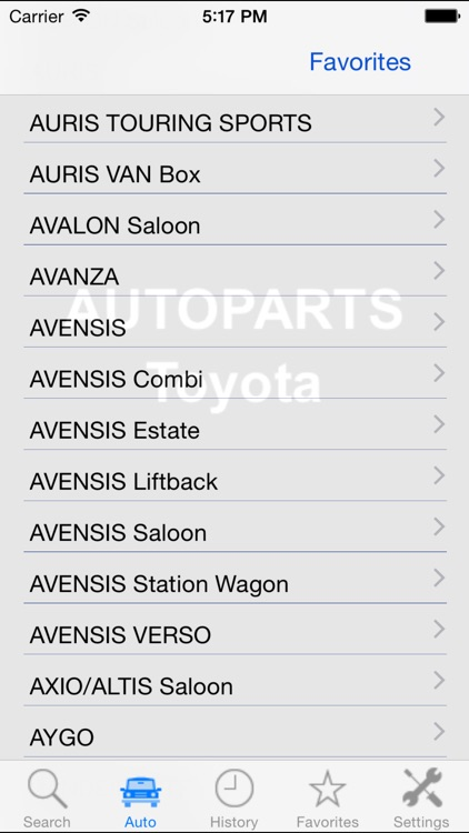 Autoparts for Toyota