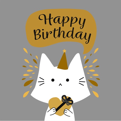 Birthday Card - Best Wishes with Cute Animals