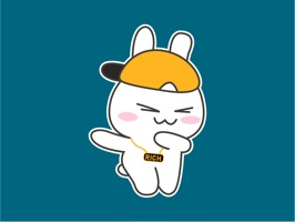 Stubborn Bunny Animated Stickers for iMessage:
