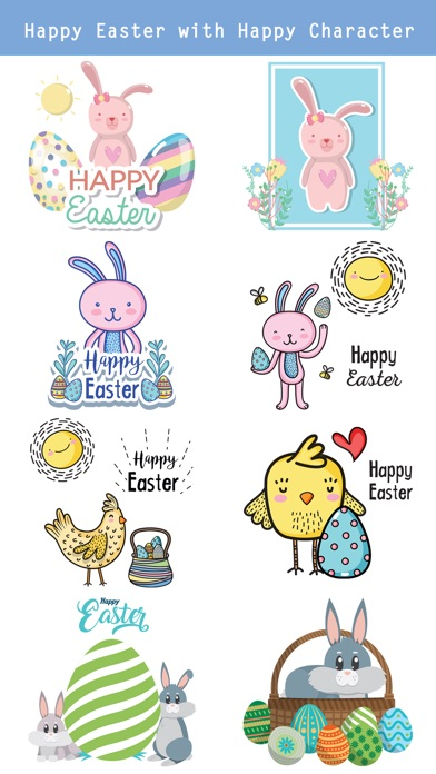 Happy Easter Day Stickers screenshot 2