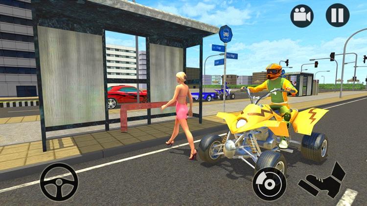 Modern City ATV Quad Bike Taxi screenshot-3