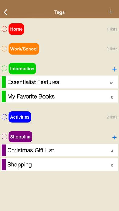 Essentialist - Checklist screenshot two