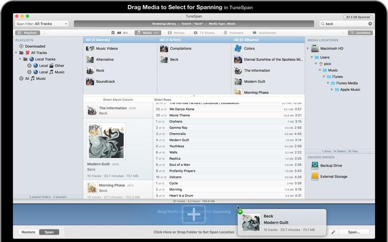TuneSpan Screenshot