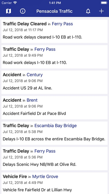 Pensacola Traffic screenshot-0