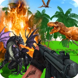 Dragon vs Dinosaur shooting 3D