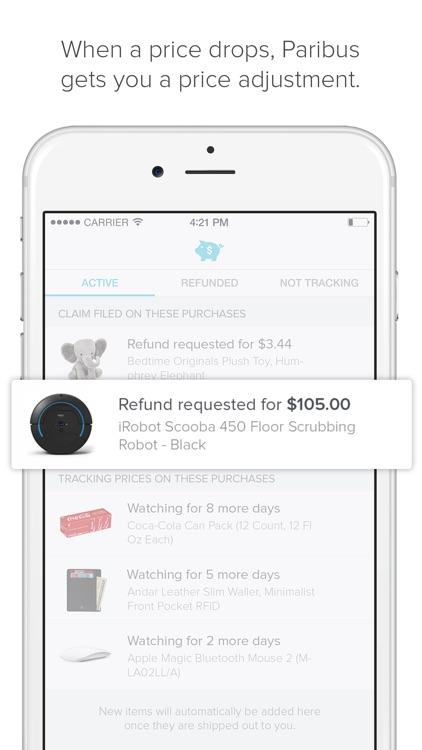 Paribus - Rebates When Prices Drop screenshot-3