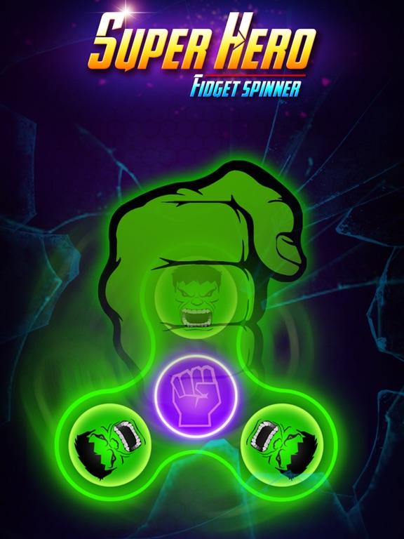 SuperHeroes Fidget Spinner screenshot #2